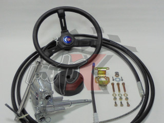 Outboard mechanical steering system
