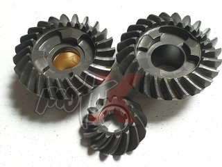 Gear set Yamaha 30 / 25 HP 3-cylinders,  6J8-45551-00-00; 6J8-45560-00-00; 6J8-45571-00-00