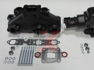 Mercruiser V6-4.3L Dry Joint Išmetimo kolektorius + alkūnė 14°, k-tas 864612T01 + 864591T02