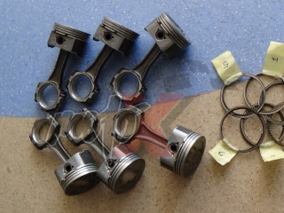 MERCRUISER 4.3L V6 Vortec - Švaistikliai 811839T01+Stūmokliai 835001T+Žiedai 8018611